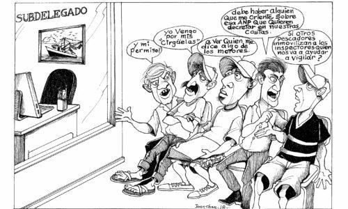 Caricatura por Juan Chuy: ¿Y el Subdelegado de Pesca?