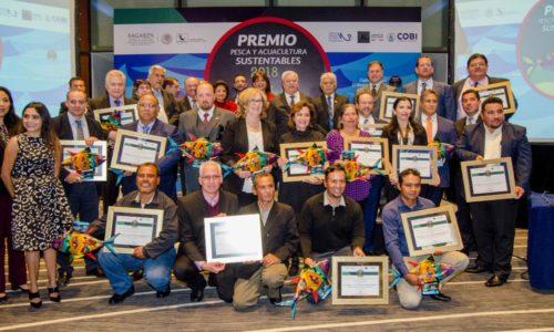 Reciben dos organizaciones pesqueras sudcalifornianas el Premio Pesca y Acuacultura Sustentables 2018